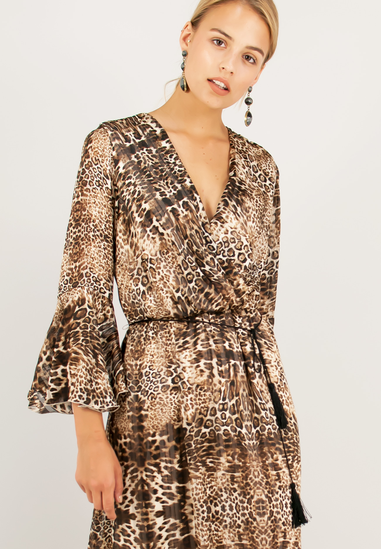 a4ff76a91509 Animal print maxi dress - ZIC ZAC