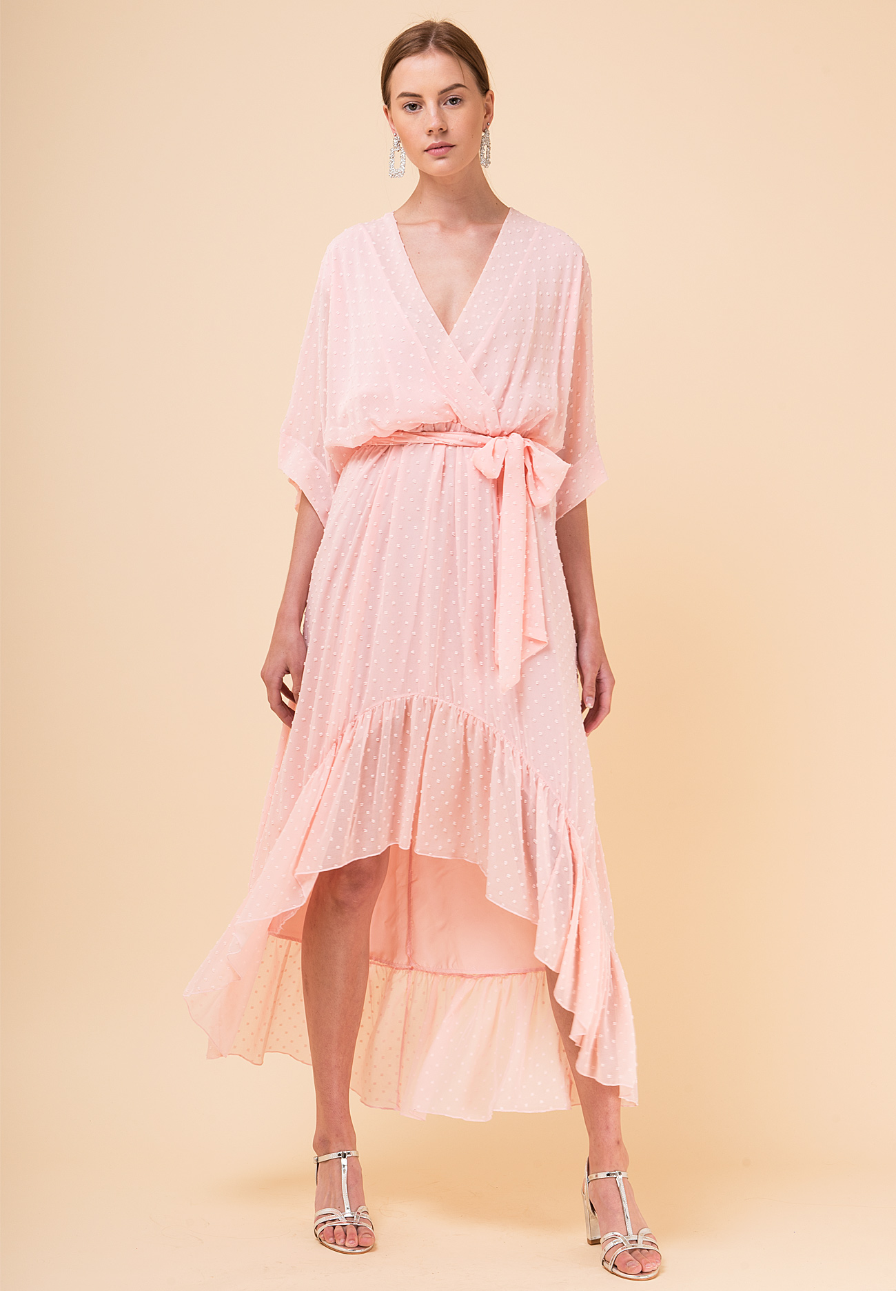 86d186312d71 Κρουαζέ φόρεμα από ανάγλυφο ύφασμα - ZIC ZAC