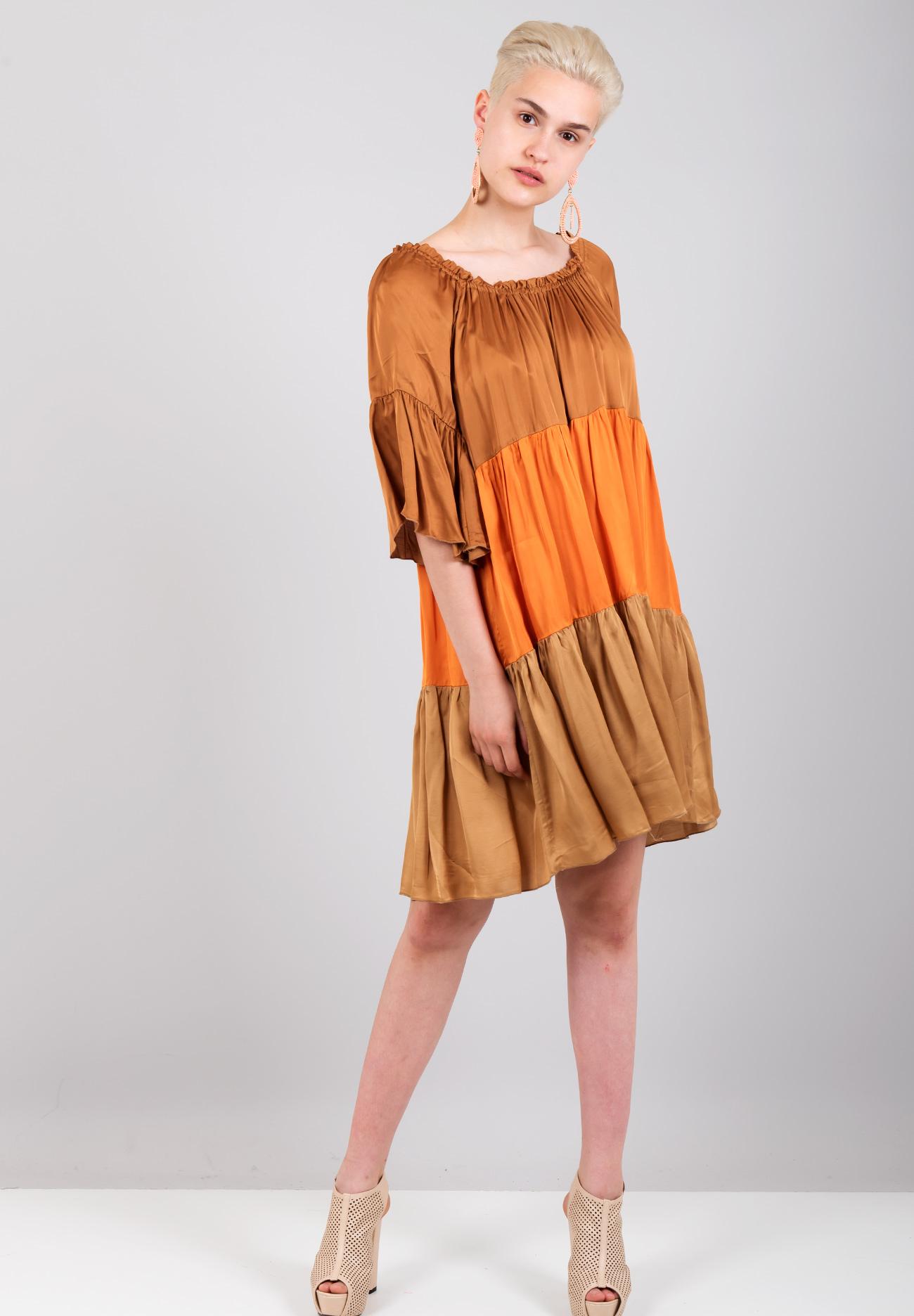 76ab35eb29ad Σατέν φόρεμα σε αντίθεση - ZIC ZAC