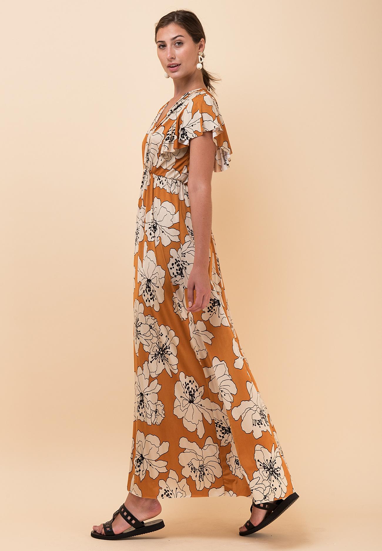 df5bb74c2b7 Εμπριμέ φόρεμα σε άνετη γραμμή - ZIC ZAC