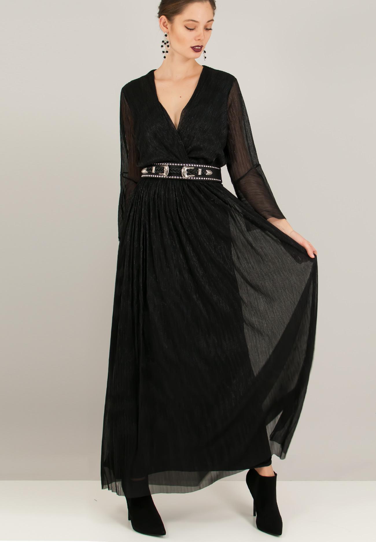 120347cb8857 Μακρύ πλισέ φόρεμα - ZIC ZAC