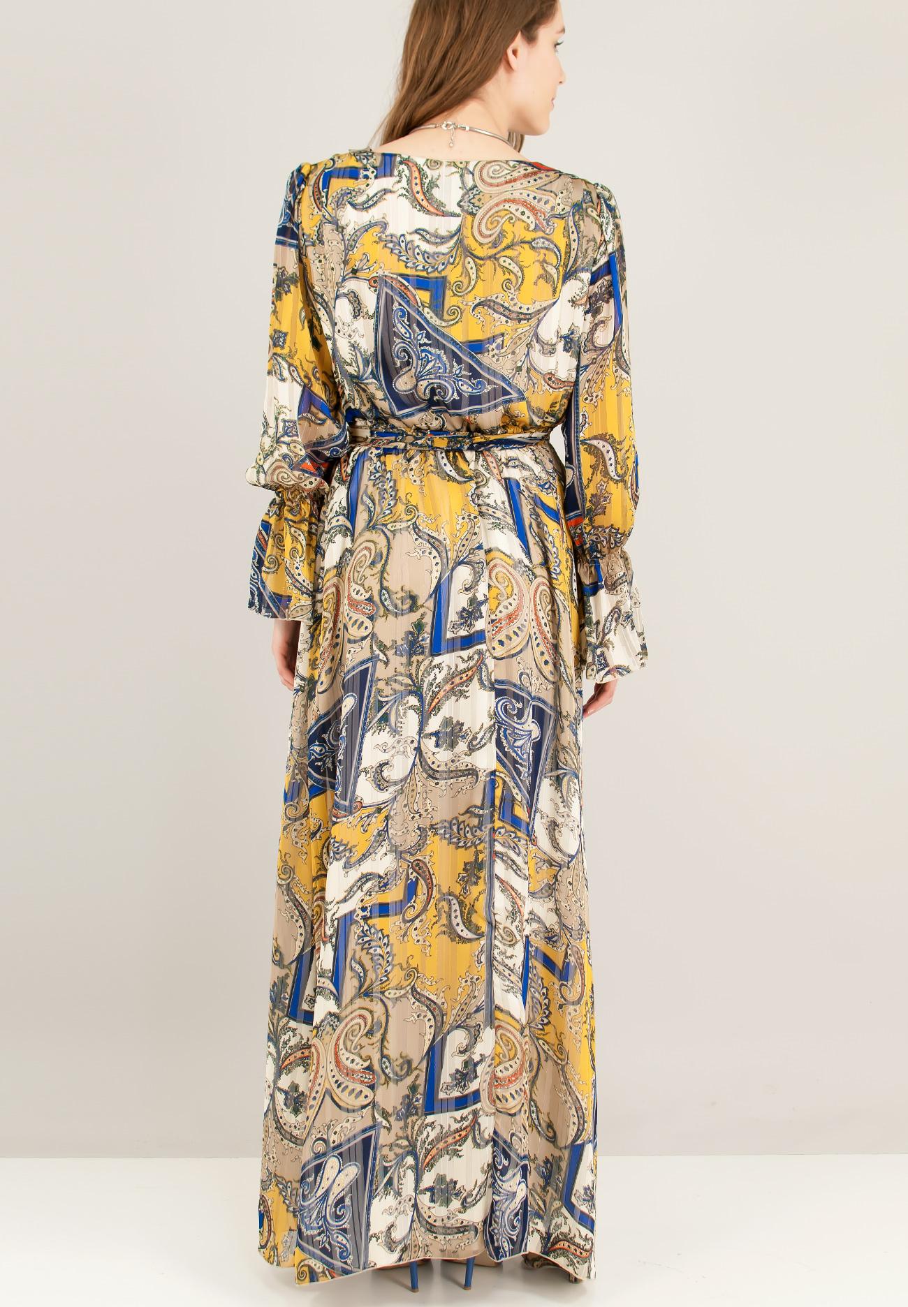 Maxi δετό κρουαζέ φόρεμα - ZIC ZAC 0290196221e