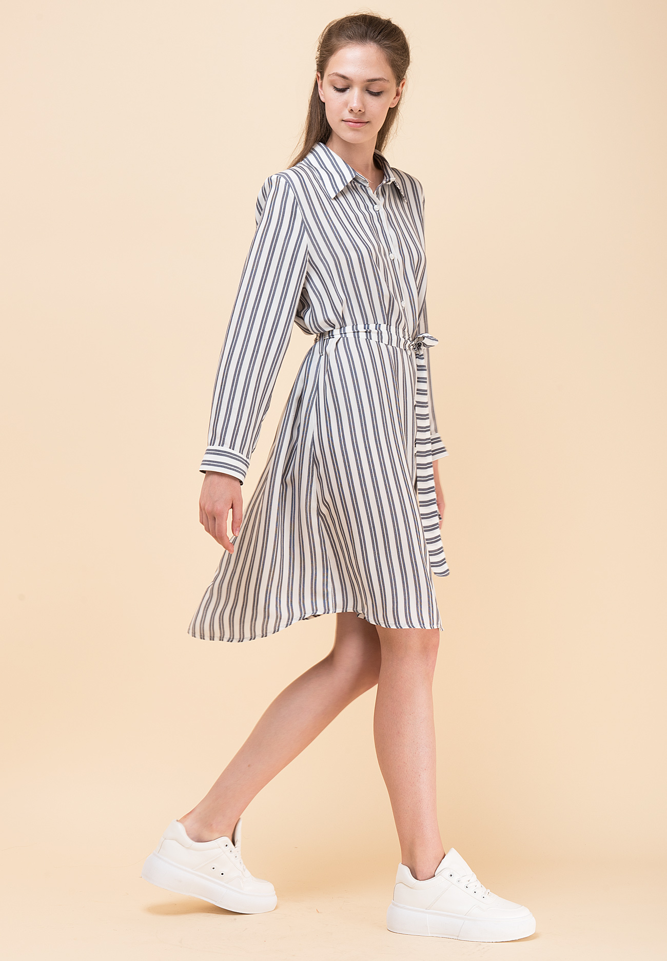 8066a4718a5 Mini shirt dress with collar - ZIC ZAC