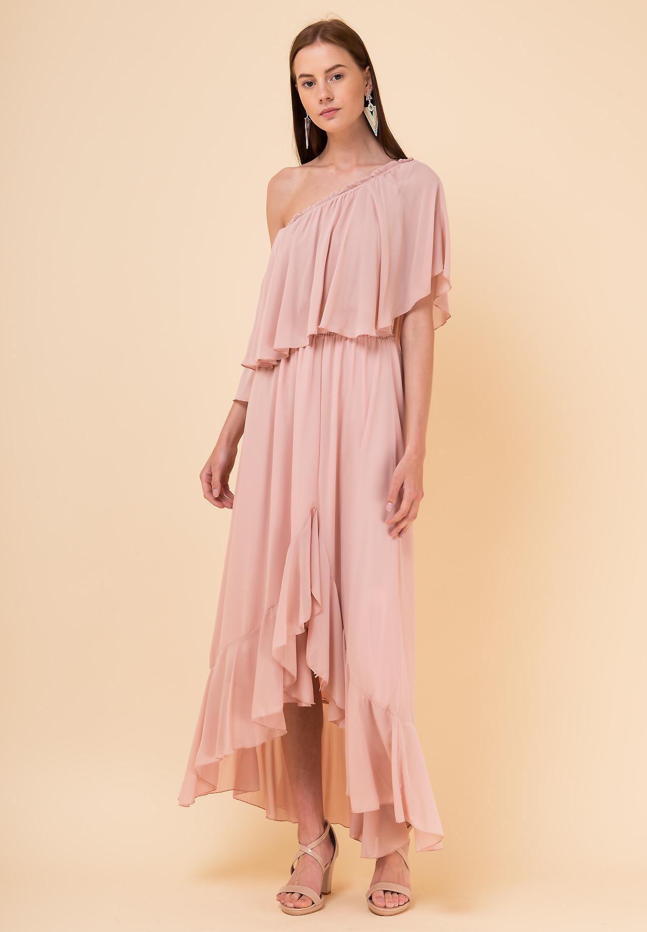 33a399fc54e Μακρύ φόρεμα με έναν ώμο - ZIC ZAC
