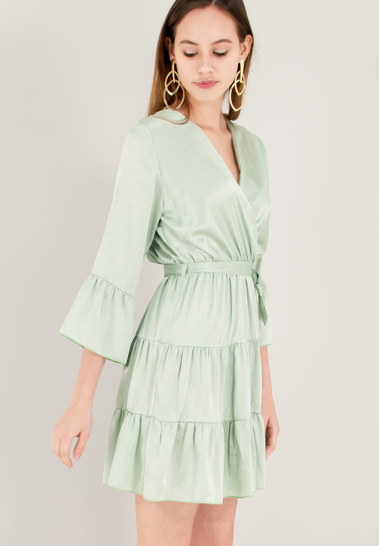 6143667b4753 Σατέν κρουαζέ φόρεμα - ZIC ZAC
