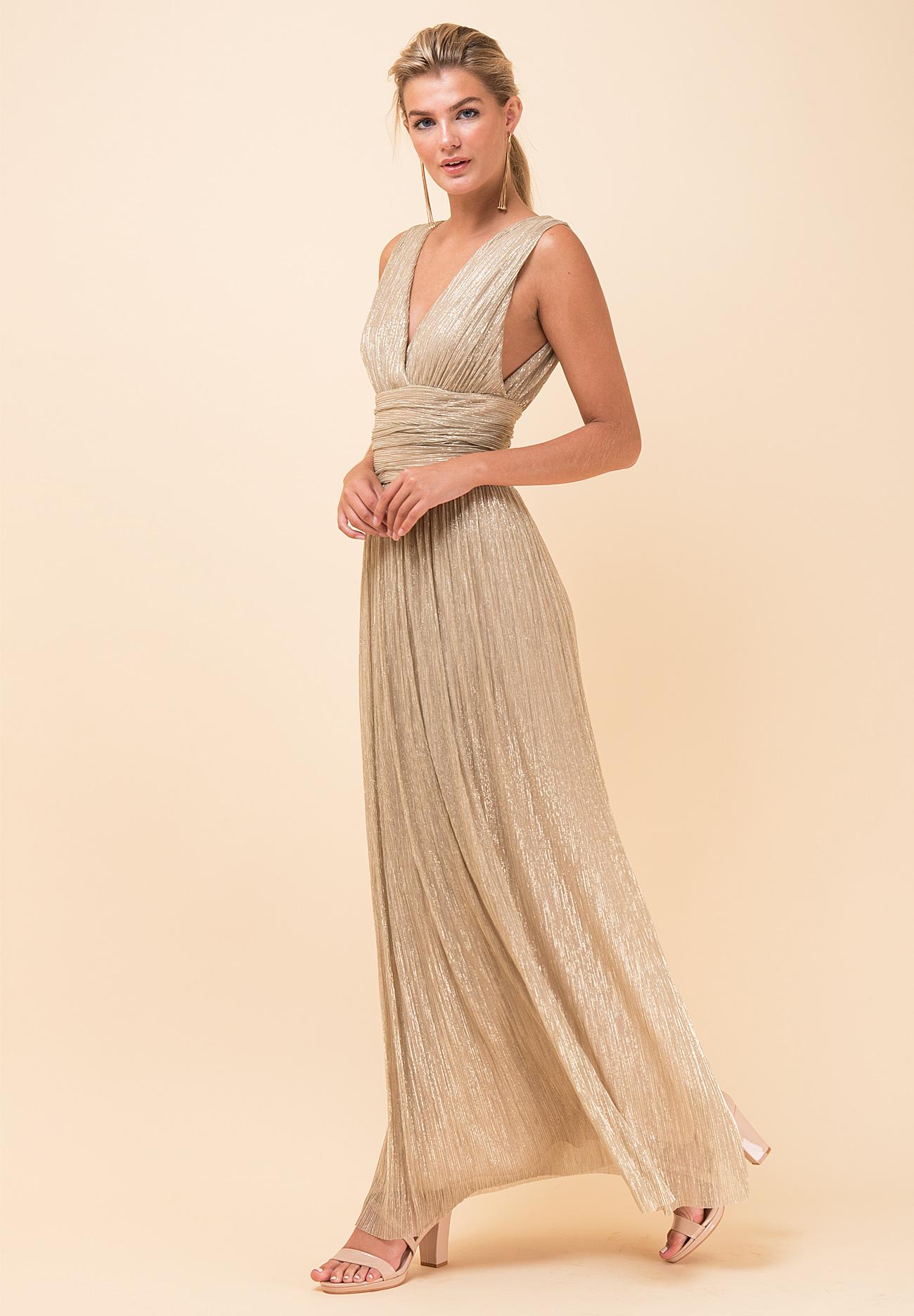 d29eaeb2a05 Maxi λούρεξ κρουαζέ φόρεμα - ZIC ZAC