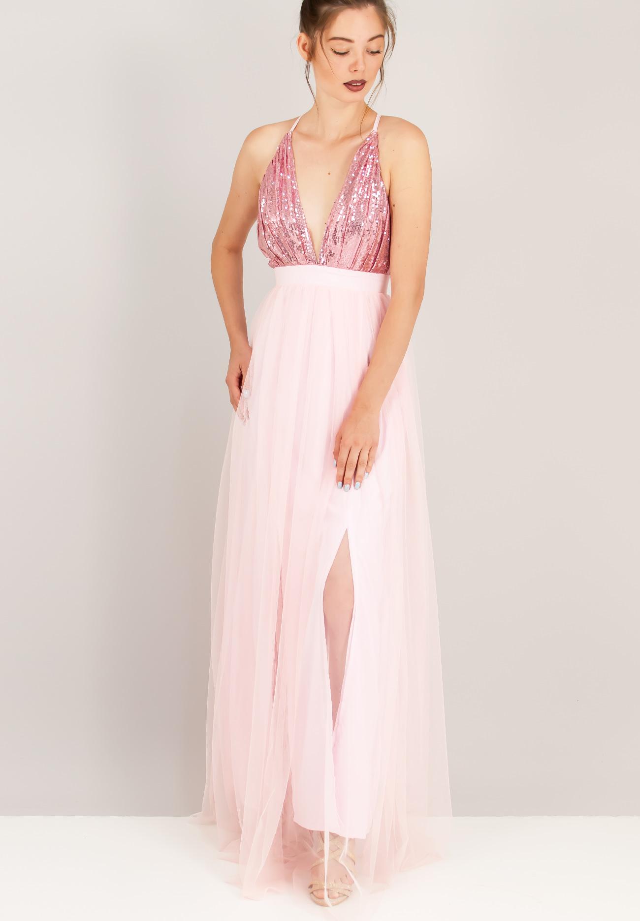 Φόρεμα με παγέτα και τούλινη φούστα - ZIC ZAC 9c15c4ac8a2