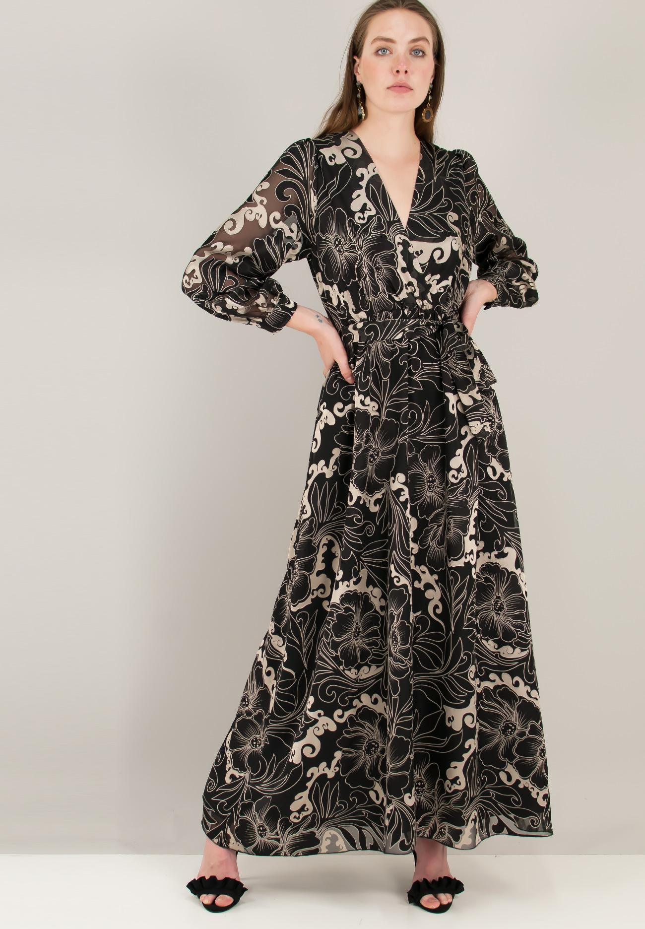 785891553167 Εμπριμέ φόρεμα με ανάγλυφο σχέδιο - ZIC ZAC