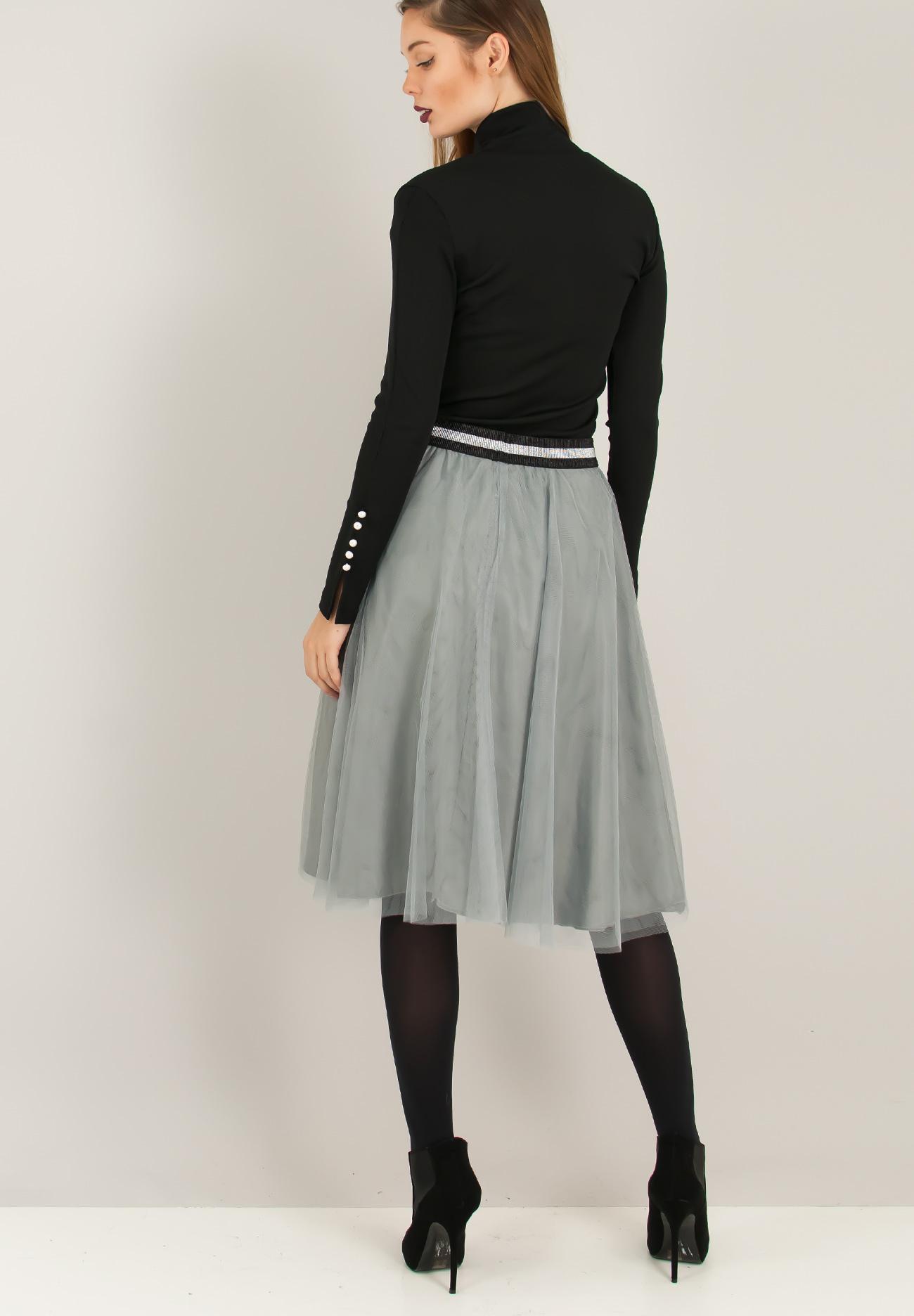 Μίνι τούλινη φούστα με λάστιχο στη μέση - ZIC ZAC 7a976b3bbc8