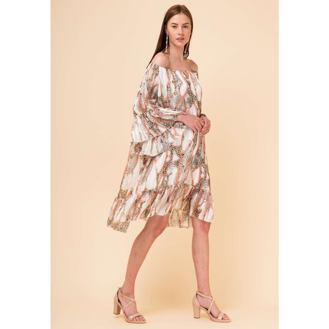 Loose εμπριμέ φόρεμα