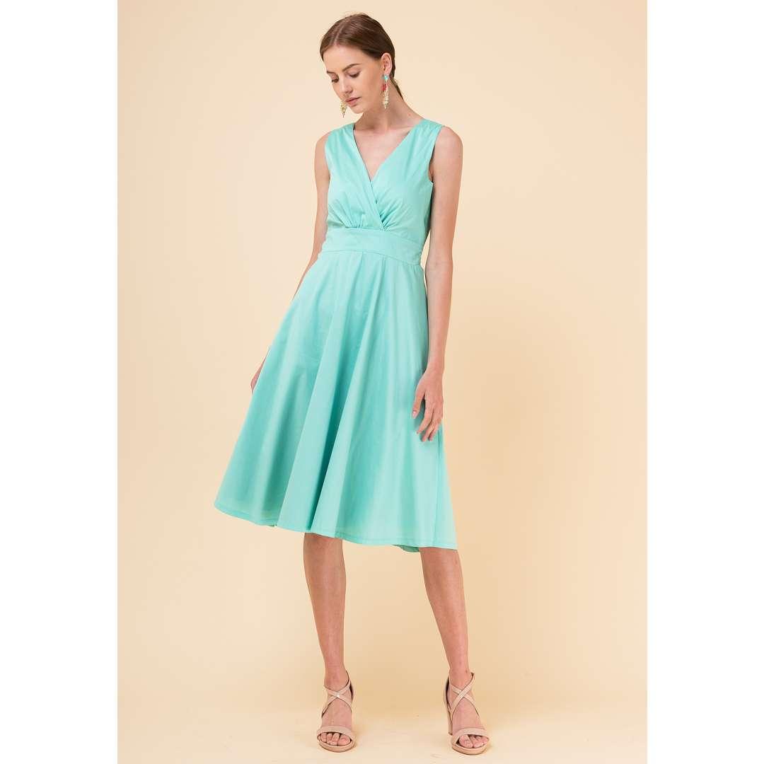 362d5196b7f7 Μονόχρωμο κλος φόρεμα