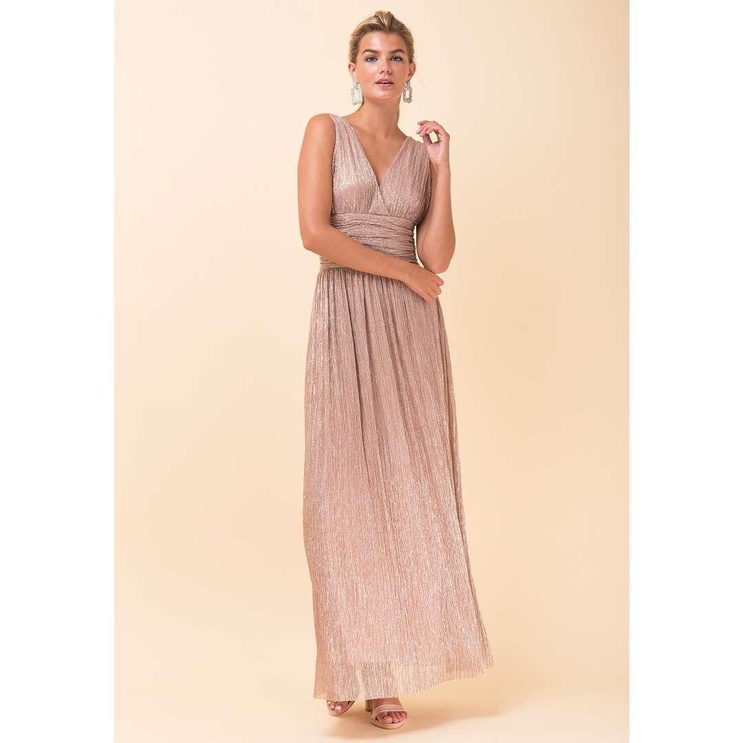 e062cfa373df Λούρεξ κρουαζέ φόρεμα με σούρες