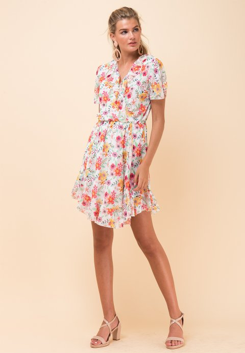 272c6028d29c Εμπριμέ φόρεμα τύπου φάκελος