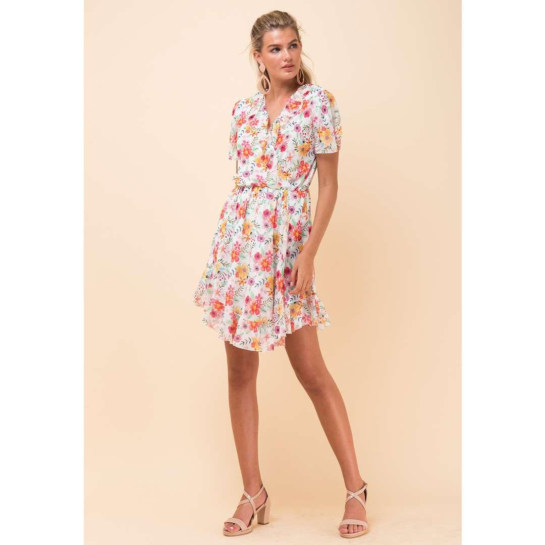 Εμπριμέ φόρεμα τύπου φάκελος