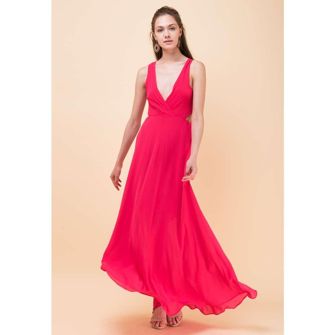 Μακρύ φόρεμα με δέσιμο στη πλάτη