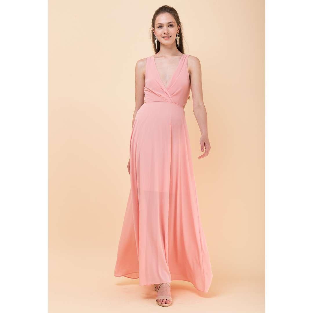 Μακρύ φόρεμα με δετή πλάτη