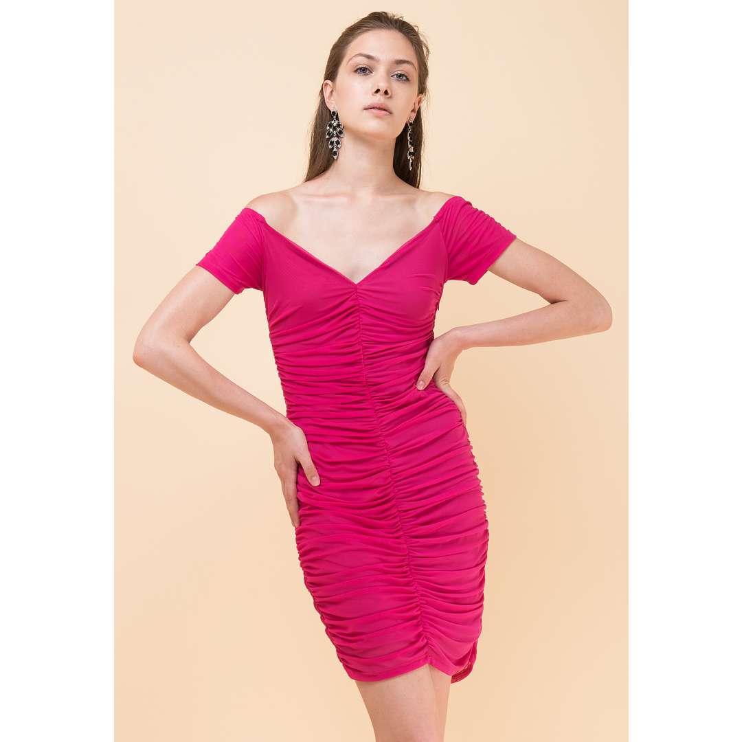 Skintight φόρεμα με σούρες