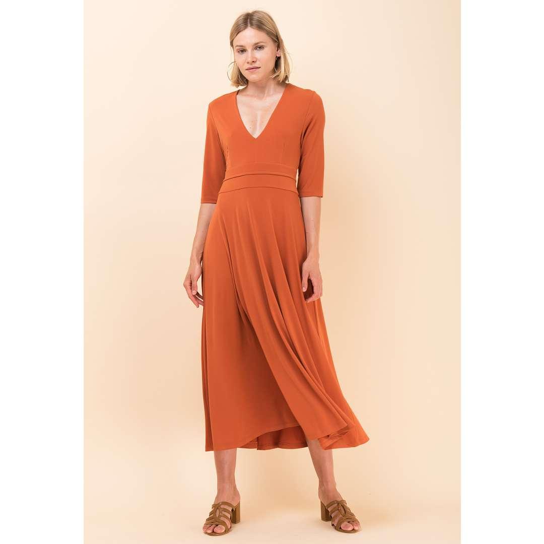 Μονόχρωμο κλος φόρεμα