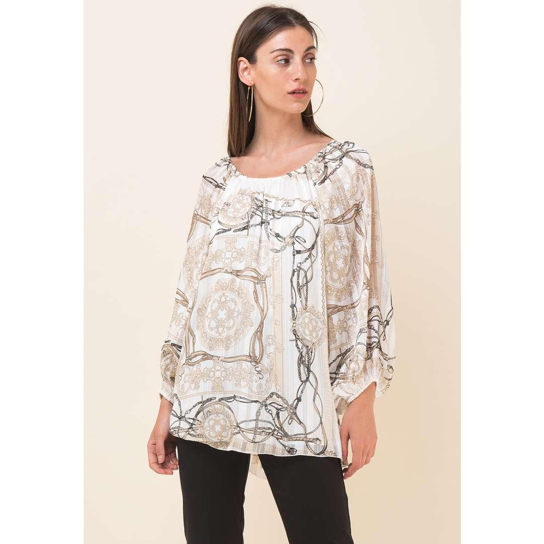 Loose μπλούζα με τύπωμα