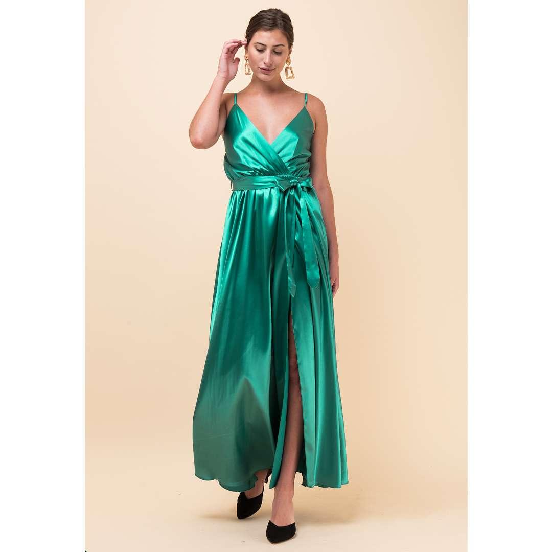 Σατέν κρουαζέ φόρεμα σε στιλ φάκελο