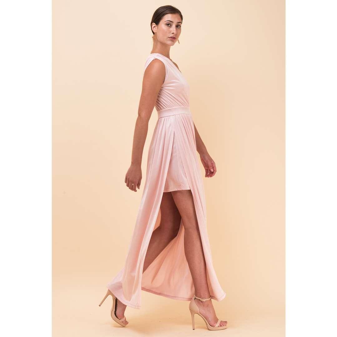 Λαμέ φόρεμα με έναν ώμο