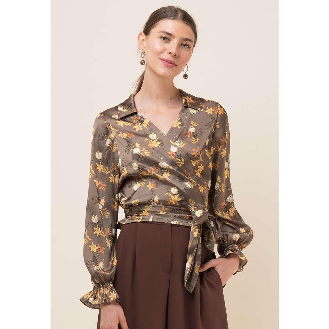Φλοράλ δετό πουκάμισο