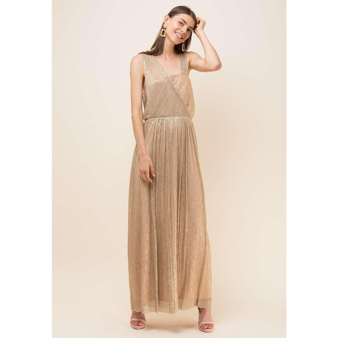Lurex φόρεμα με κρουαζέ σχέδιο