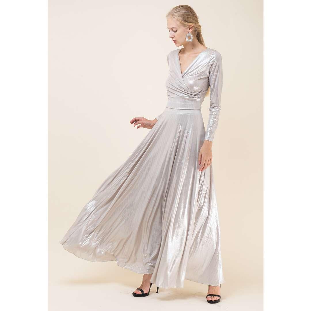 Maxi λαμέ φούστα