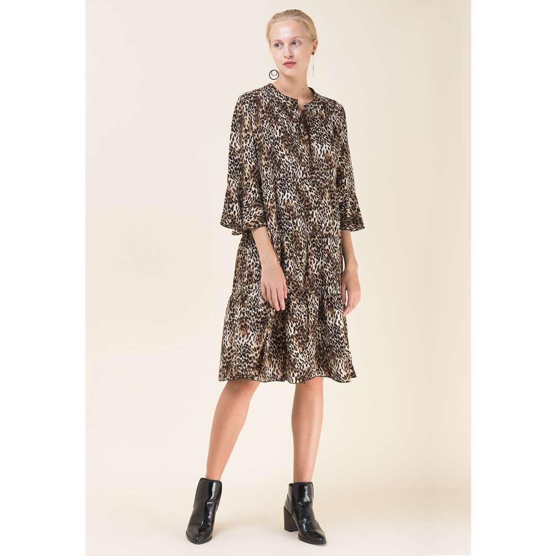 Loose animal print φόρεμα