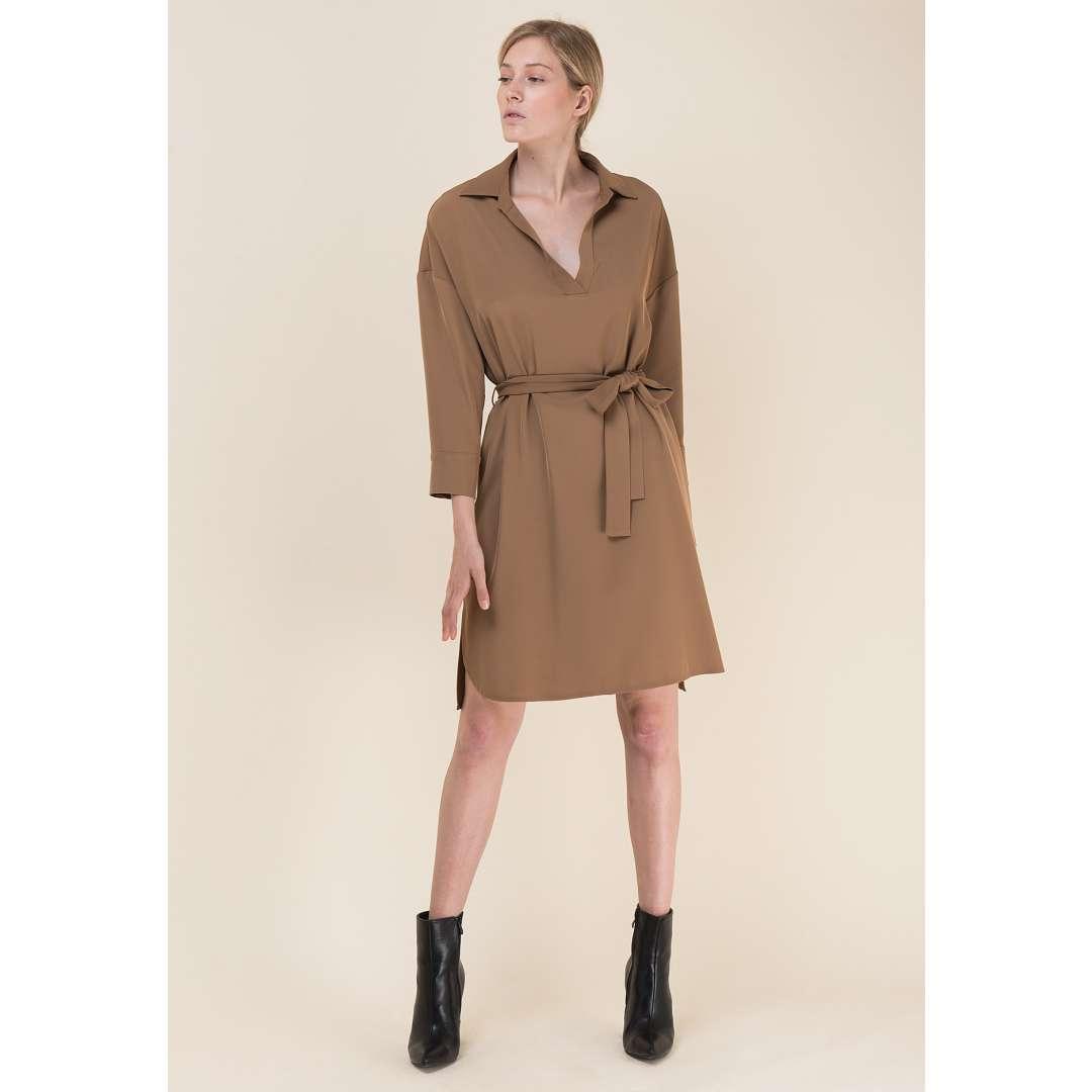 Shirt φόρεμα με ζώνη