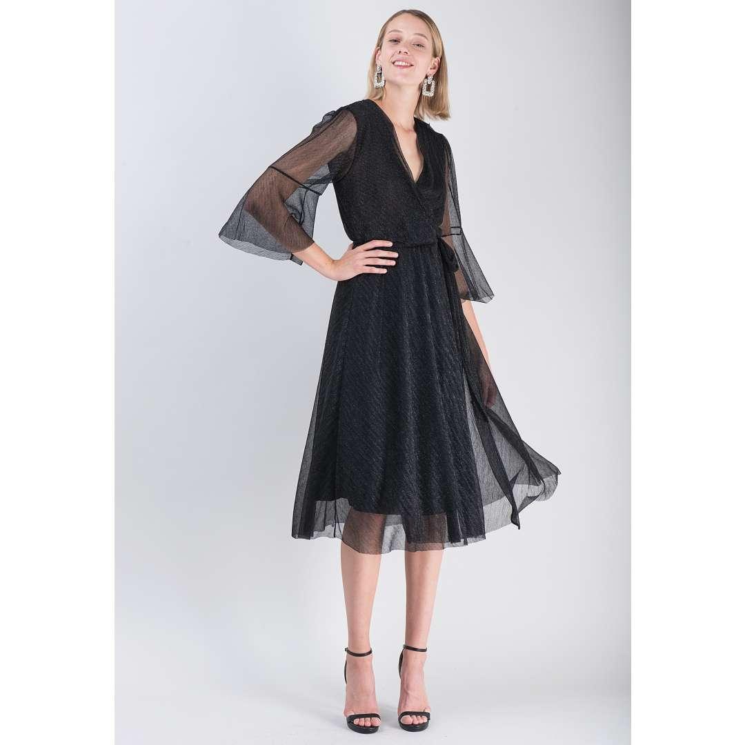 Λούρεξ δετό φόρεμα