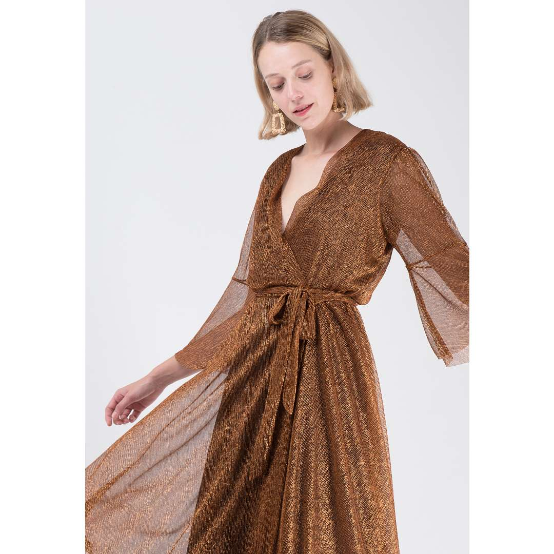 Δετό λούρεξ φόρεμα