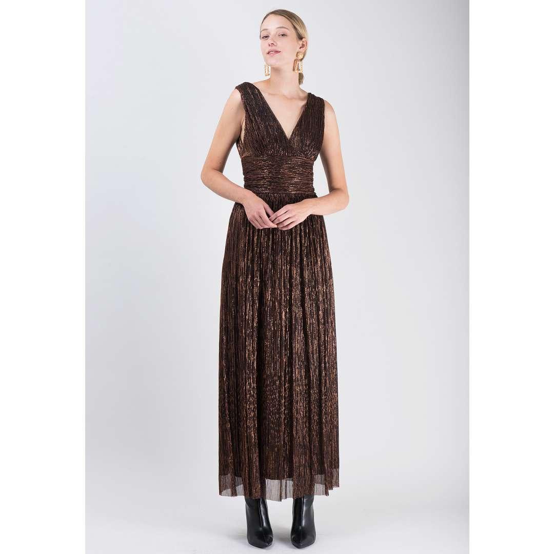 Μακρύ λούρεξ κρουαζέ φόρεμα