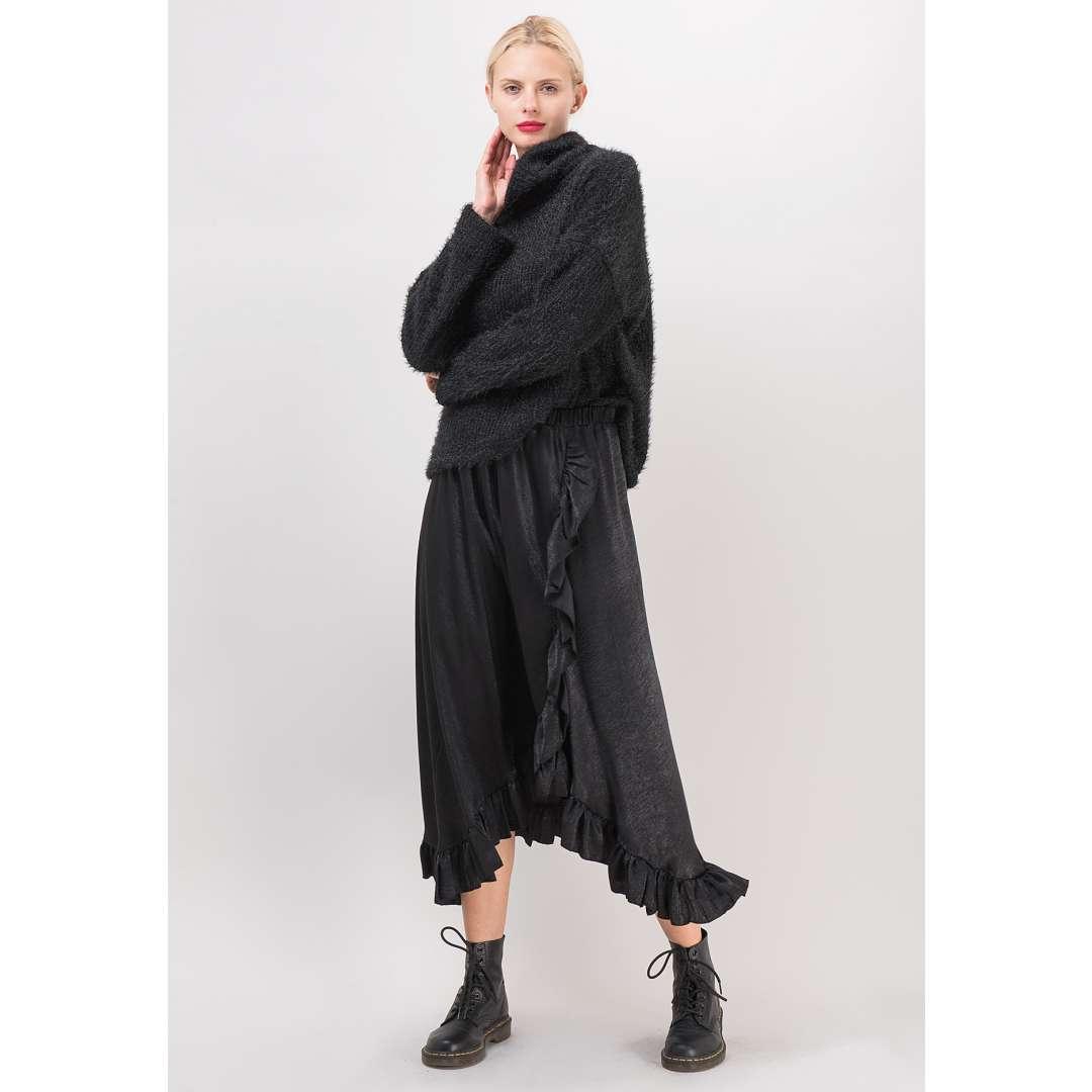 Ασύμμετρη φούστα με βολάν