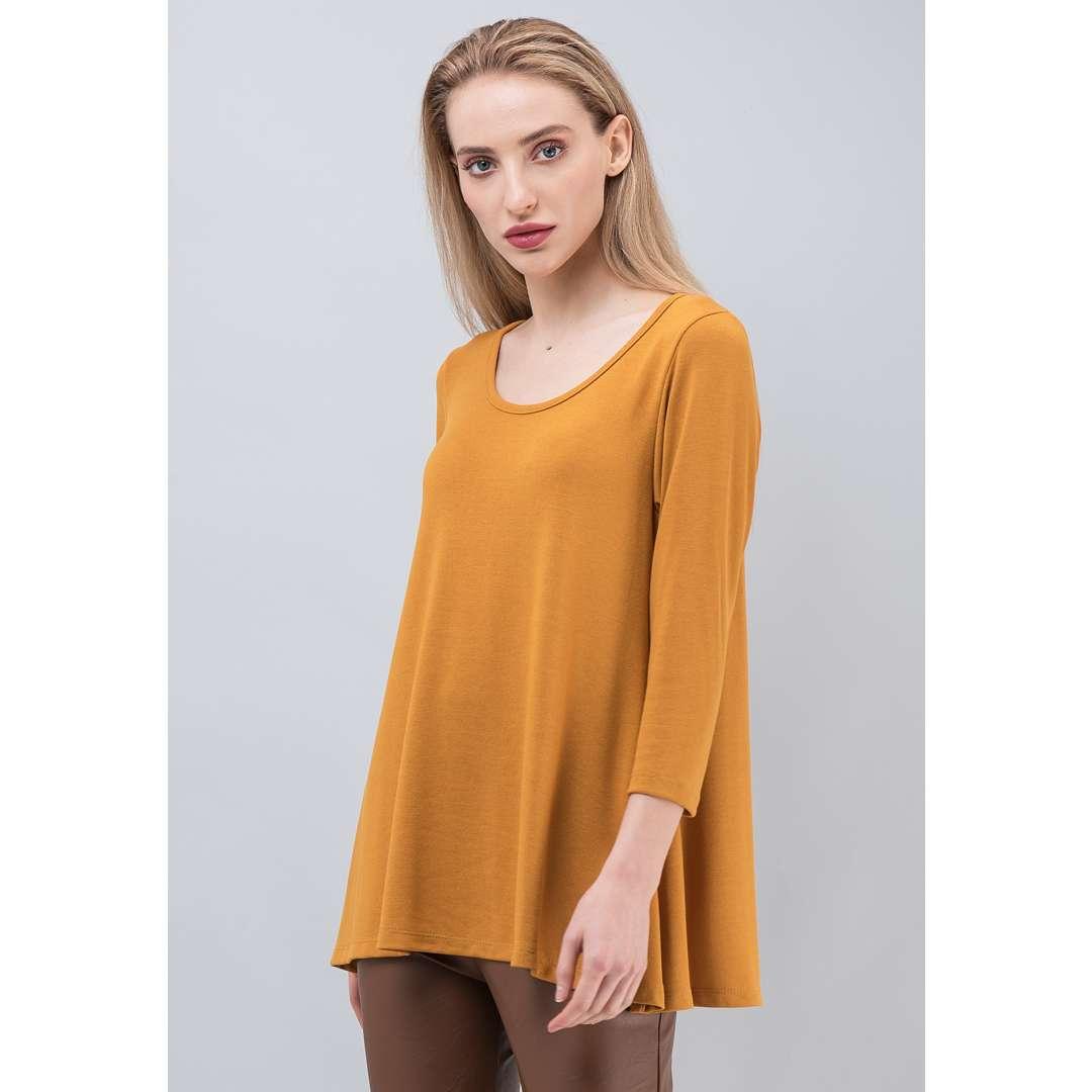 Μονόχρωμη basic μπλούζα