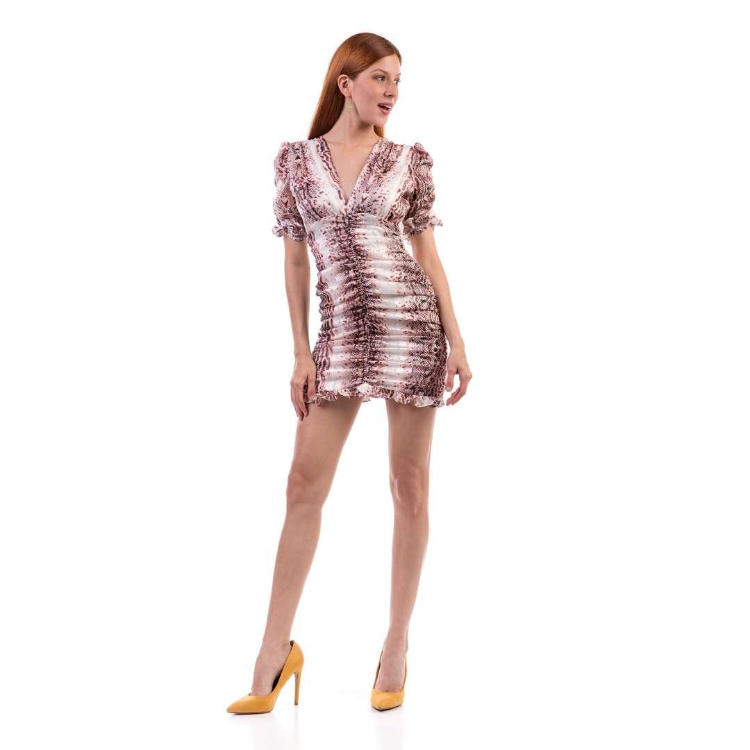 Μίνι φόρεμα με σούρες