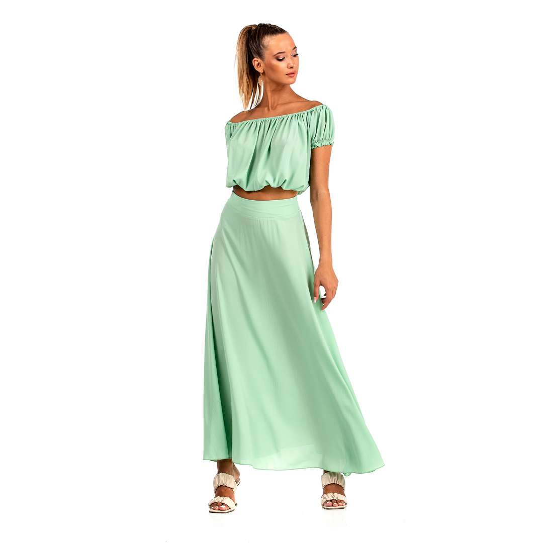 Maxi ψηλόμεση φούστα