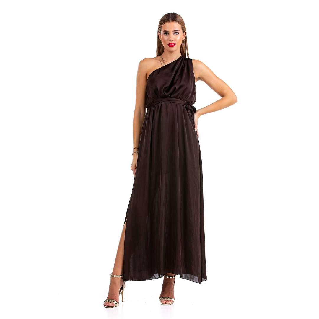 Μακρύ φόρεμα με ένα ώμο