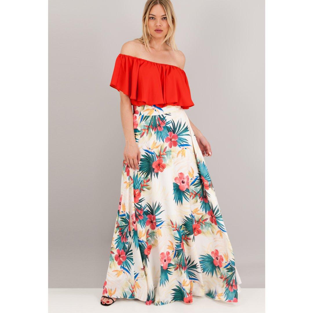 Μακριά φλοράλ φούστα. ενδυματα   φουστεσ