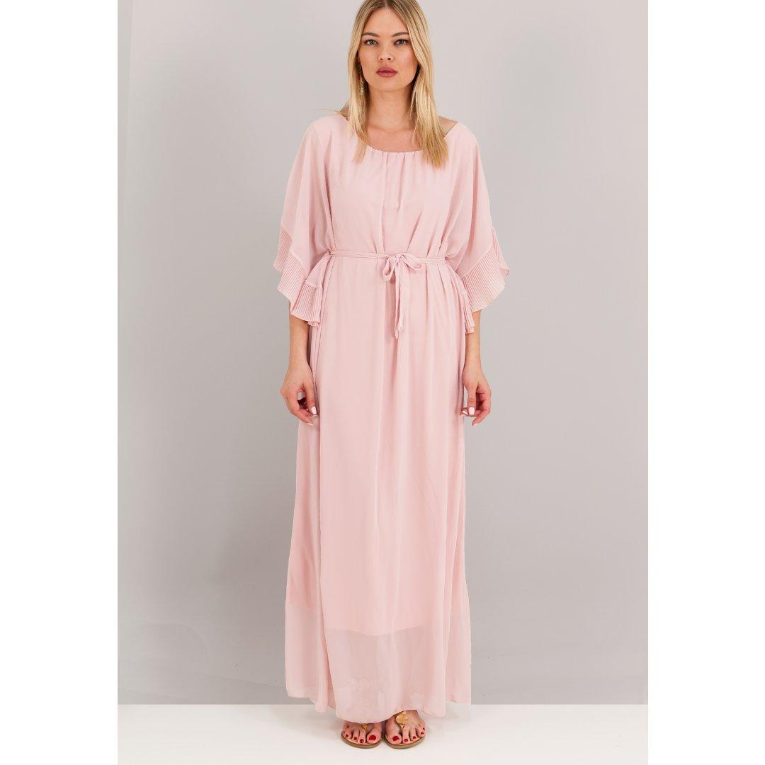 Μακρύ φόρεμα σε αρχαιοελληνικό στυλ με φαρδιά μανίκια. ενδυματα   φορεματα