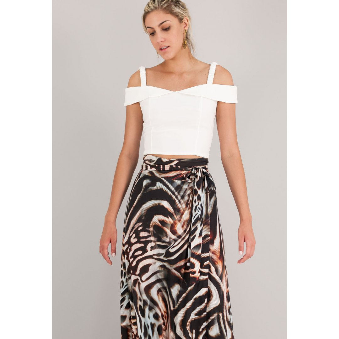 Off the shoulders cropped top με τιράντες. ενδυματα   μπλουζεσ τοπ   cropped tops
