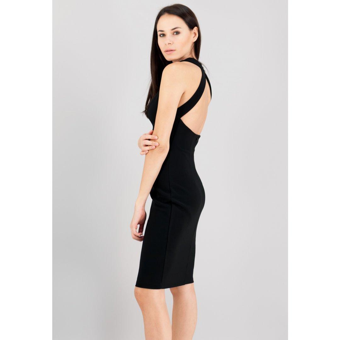 Εφαρμοστό φόρεμα με ανοιχτή πλάτη. ενδυματα   φορεματα
