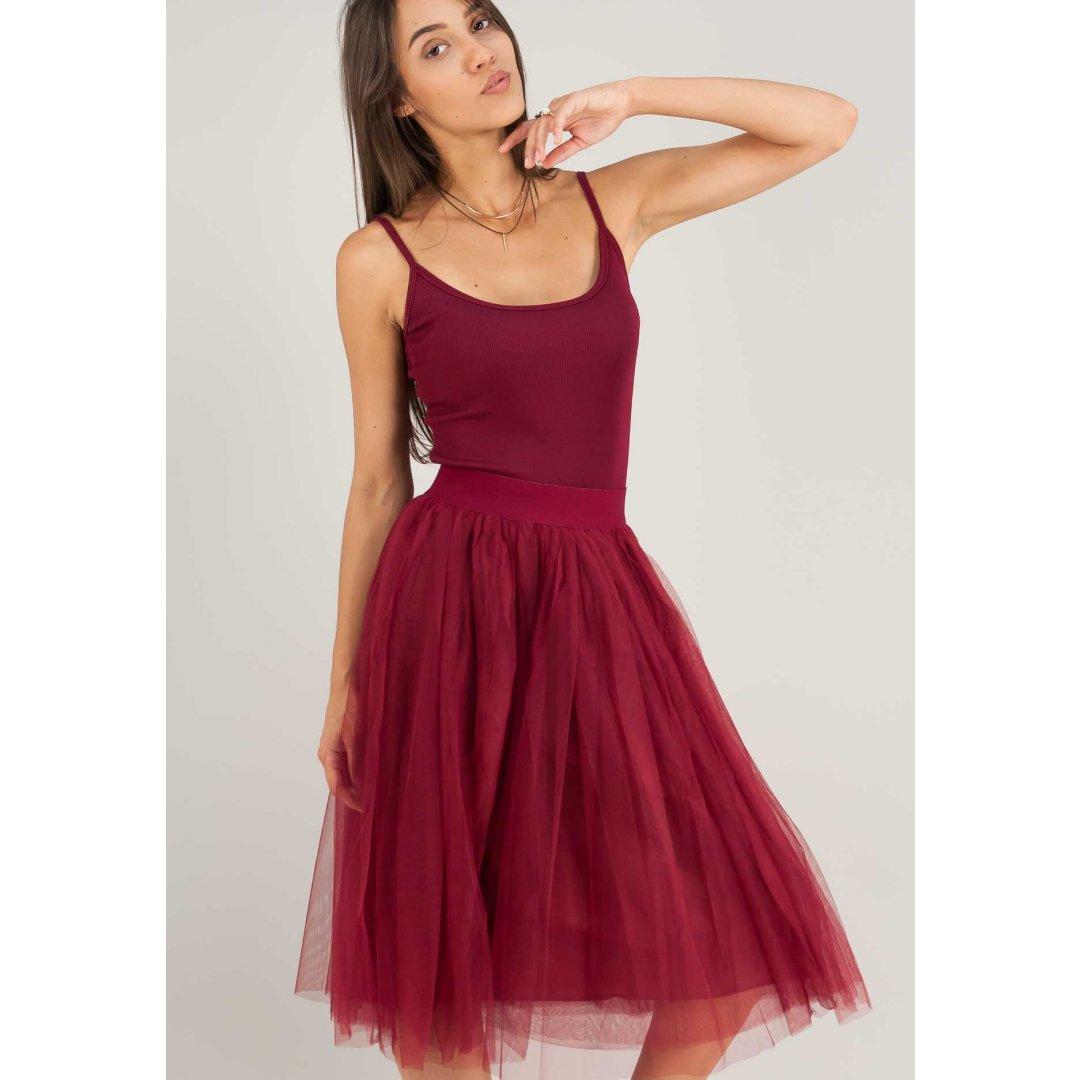 Μίντι τούλινη φούστα.