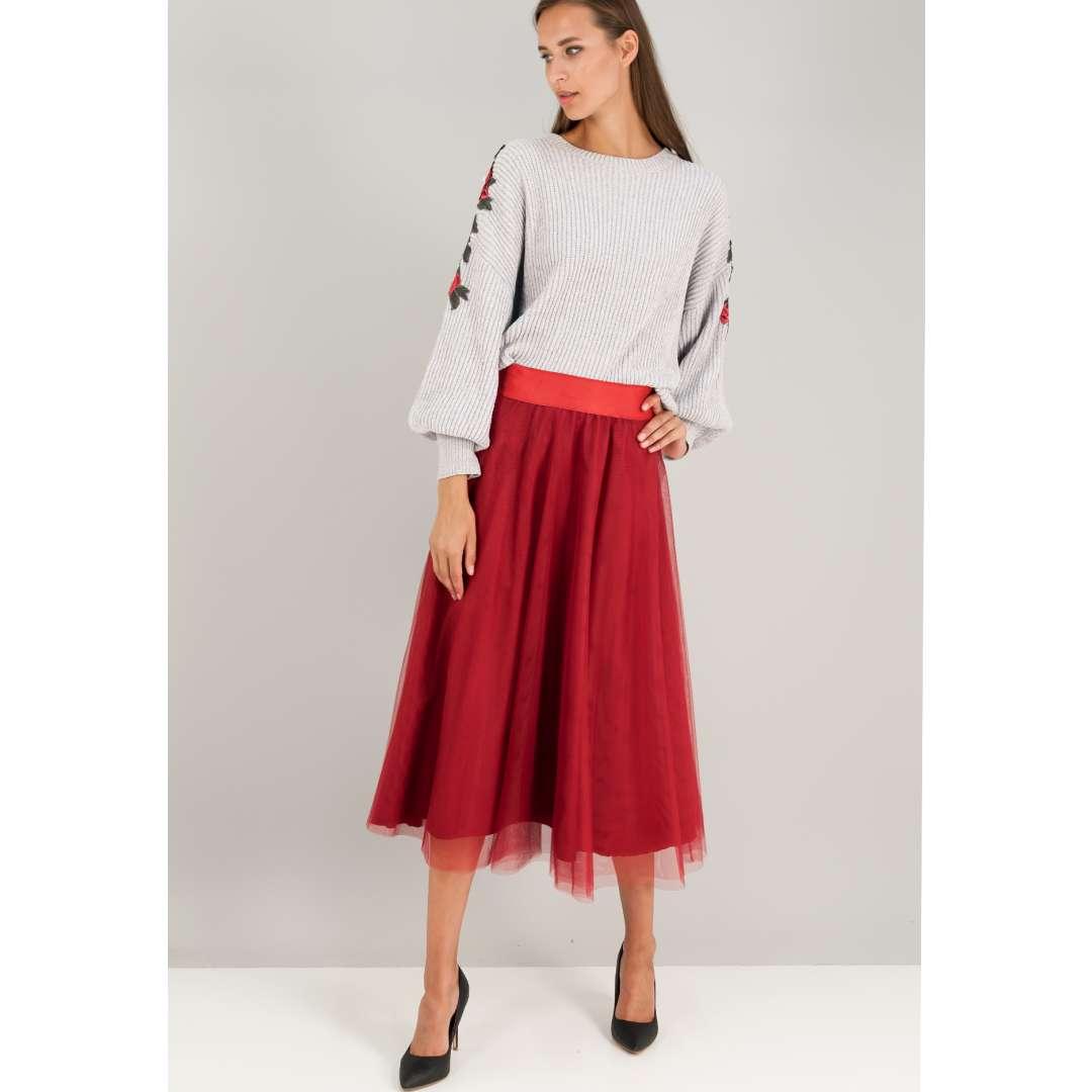 Τούλινη φούστα με λάστιχο στη μέση. ενδυματα   φουστεσ
