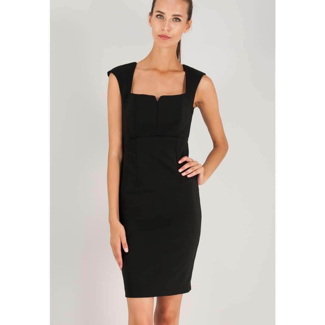 Εφαρμοστό φόρεμα με δίχτυ στη πλάτη. ενδυματα   φορεματα