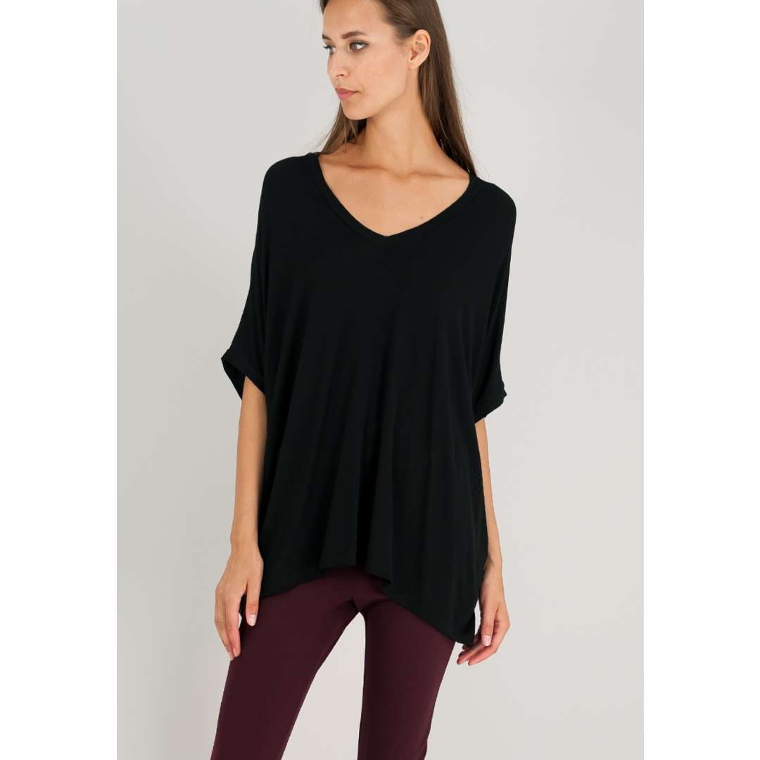 Loose μπλούζα με λαιμόκοψη V. ενδυματα   μπλουζεσ τοπ   basics