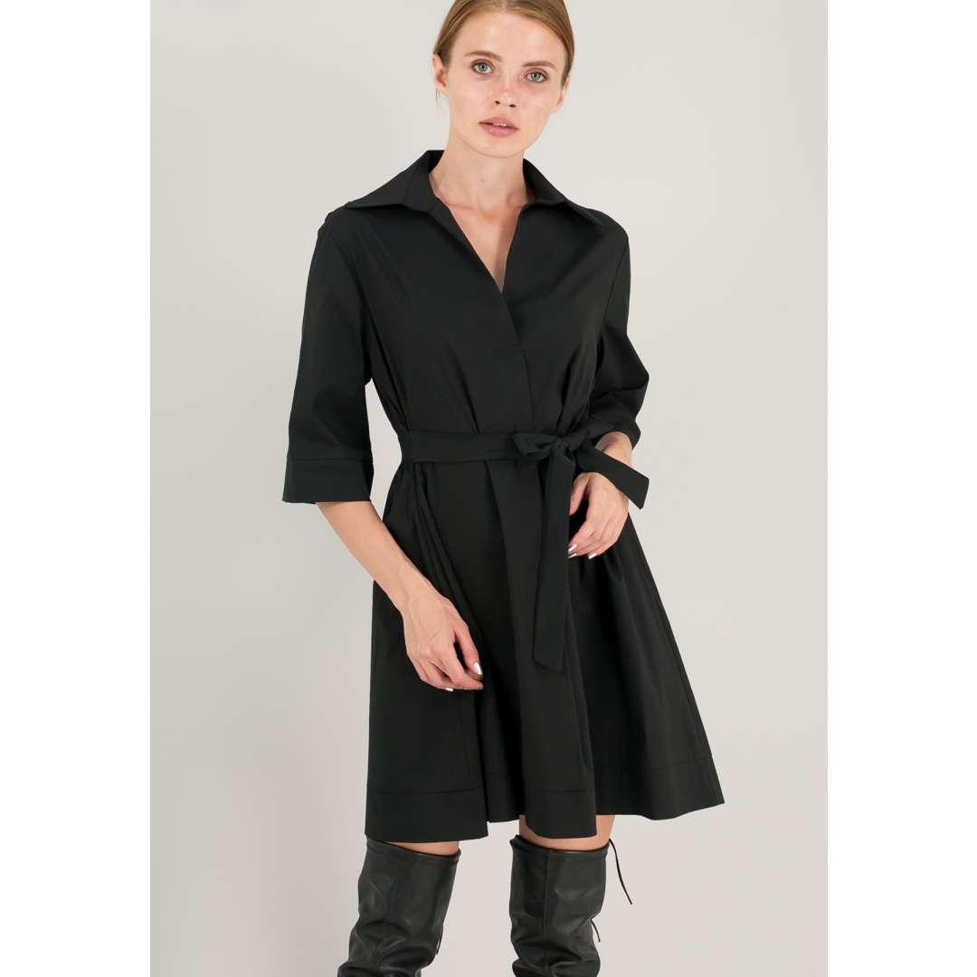 Φόρεμα από ποπλίνα σε γραμμή Α. ενδυματα   φορεματα