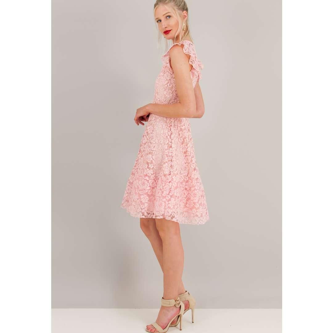Δαντελένιο φουρό φόρεμα.