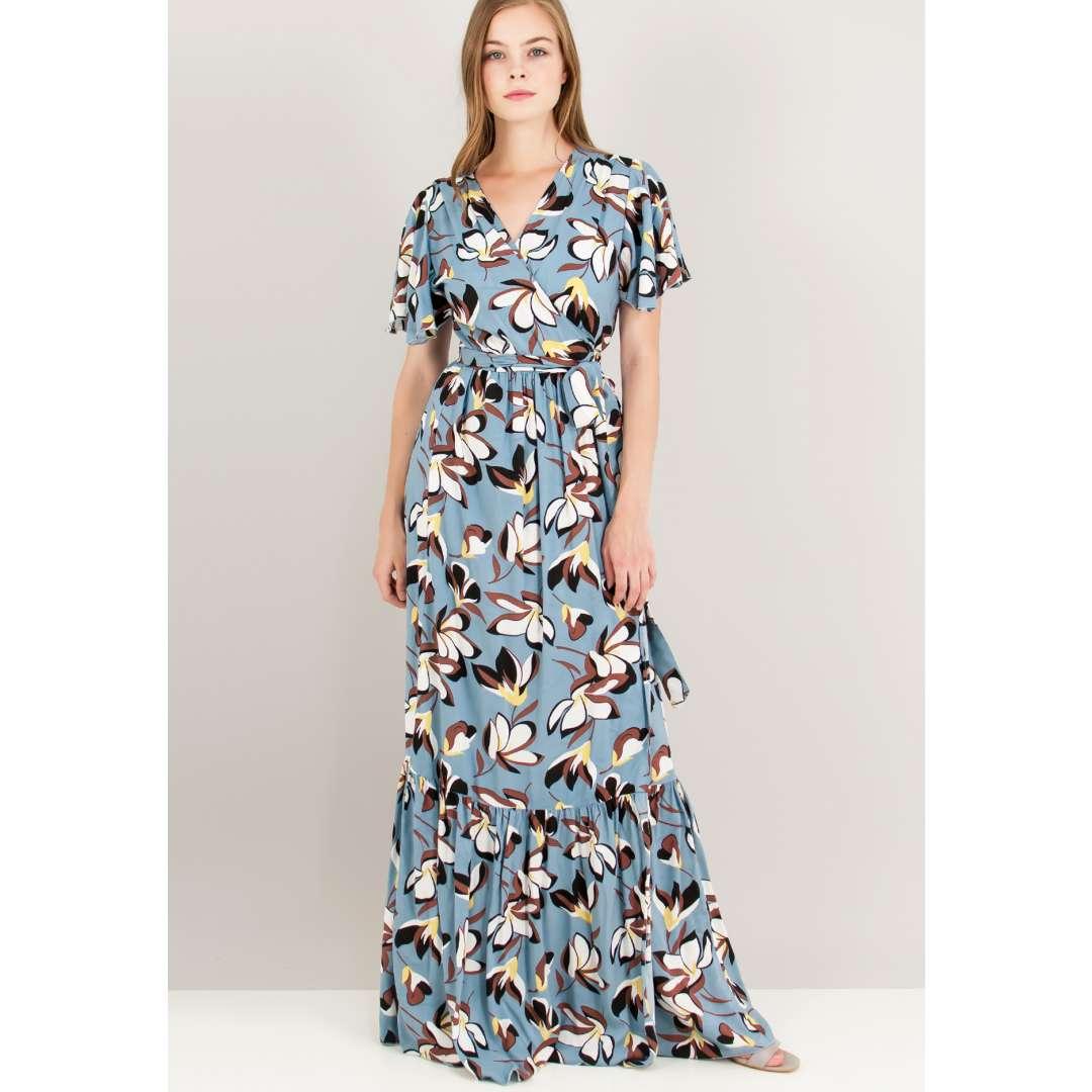 Εμπριμέ δετό κρουαζέ φόρεμα. ενδυματα   φορεματα   κρουαζέ φορέματα