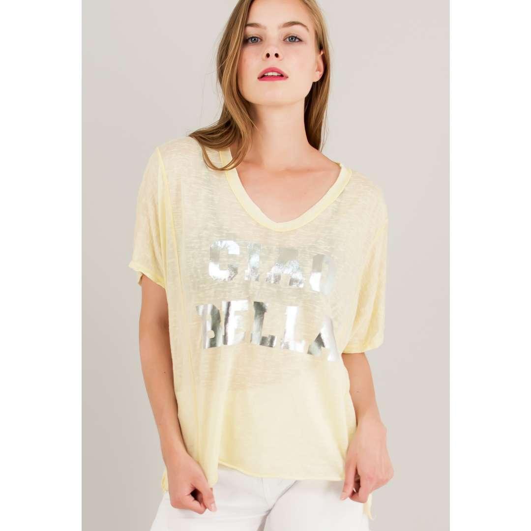 Loose t-shirt με στάμπα. ενδυματα   μπλουζεσ τοπ   όλα